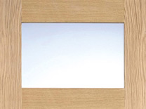 Oak-Contemporary-Glazed-4L-Clear-Pre-Finished (L)