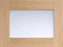 Oak-Contemporary-Glazed-4L-Frosted-Pre-Finished (L)